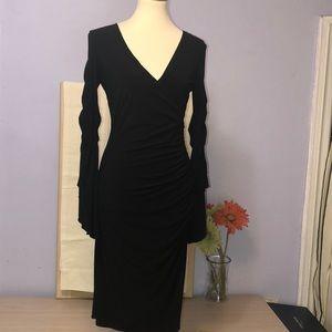 🌹Laundry by Shelli Segal black stretch dress Sz 6